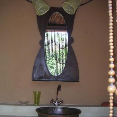 salle de bain extérieure